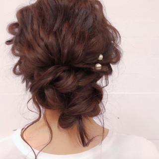 簡単ヘアアレンジ ロング ヘアアレンジ 結婚式 ヘアスタイルや髪型の写真・画像 ヘアスタイルや髪型の写真・画像