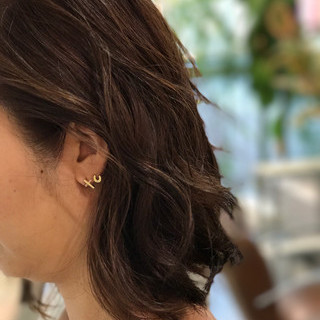 リラックス オフィス イルミナカラー 透明感 ヘアスタイルや髪型の写真・画像