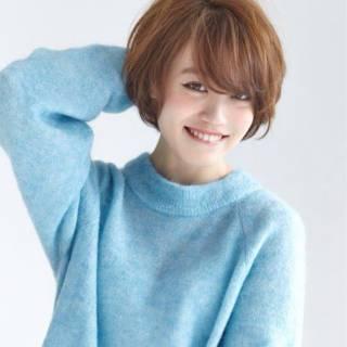フェミニン ナチュラル ショート モテ髪 ヘアスタイルや髪型の写真・画像