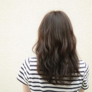 アッシュ 外国人風 セミロング ハイライト ヘアスタイルや髪型の写真・画像