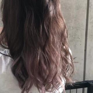 ピンク インナーカラー ガーリー ロング ヘアスタイルや髪型の写真・画像