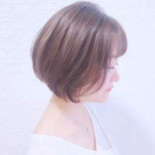 ショートヘア ナチュラル ショートボブ ボブ ヘアスタイルや髪型の写真・画像