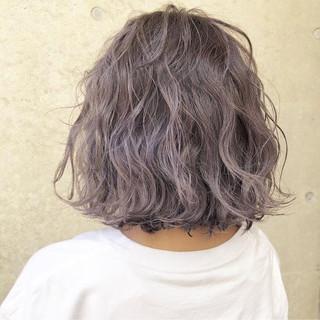 ボブ ラベンダーアッシュ ラベンダー 外国人風カラー ヘアスタイルや髪型の写真・画像 ヘアスタイルや髪型の写真・画像