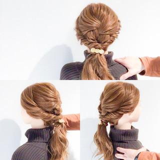 くるりんぱ 結婚式 ハーフアップ フェミニン ヘアスタイルや髪型の写真・画像 ヘアスタイルや髪型の写真・画像
