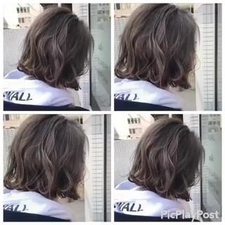 アッシュ 外国人風カラー ショートボブ ナチュラル ヘアスタイルや髪型の写真・画像