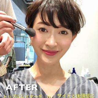 40代 30代 田丸麻紀 ショート ヘアスタイルや髪型の写真・画像