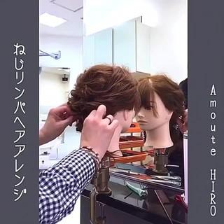 ルーズ ミディアム 大人かわいい フェミニン ヘアスタイルや髪型の写真・画像