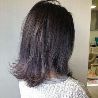 ミディアム 艶髪 ストリート ヘアアレンジ ヘアスタイルや髪型の写真・画像