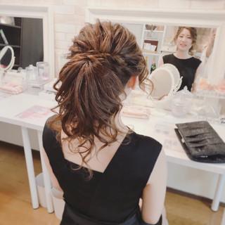セミロング 上品 エレガント ヘアアレンジ ヘアスタイルや髪型の写真・画像