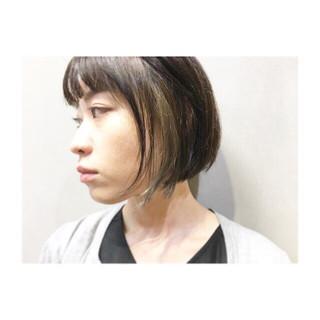 グレーアッシュ オリーブアッシュ ボブ ナチュラル ヘアスタイルや髪型の写真・画像 ヘアスタイルや髪型の写真・画像