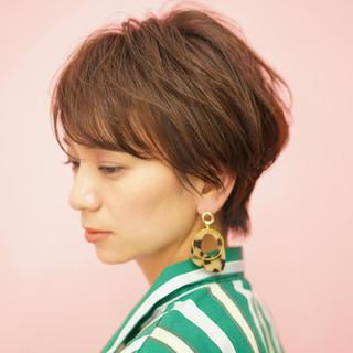 ミニボブ 30代 ショートヘア ショート ヘアスタイルや髪型の写真・画像