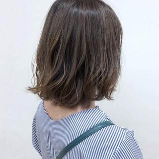 ボブ シアーベージュ ナチュラル ベージュ ヘアスタイルや髪型の写真・画像