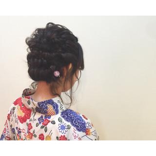 ヘアアレンジ 編み込み 夏 ゆるふわ ヘアスタイルや髪型の写真・画像