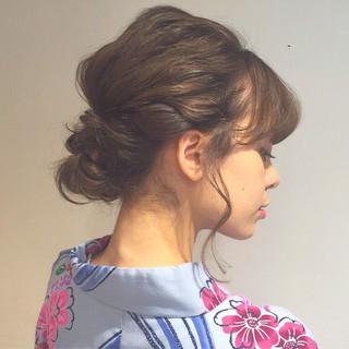 お団子 外国人風 ショート ミディアム ヘアスタイルや髪型の写真・画像