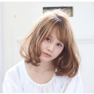 大人かわいい エレガント 上品 セミロング ヘアスタイルや髪型の写真・画像