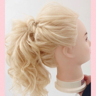ヘアアレンジ ミディアム 結婚式 簡単ヘアアレンジ ヘアスタイルや髪型の写真・画像