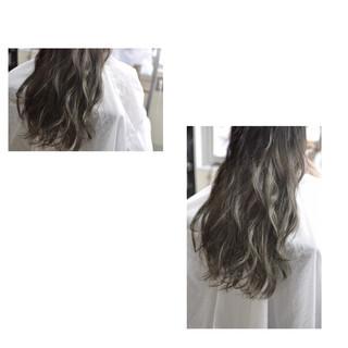 グレージュ 外国人風カラー エレガント 上品 ヘアスタイルや髪型の写真・画像 ヘアスタイルや髪型の写真・画像