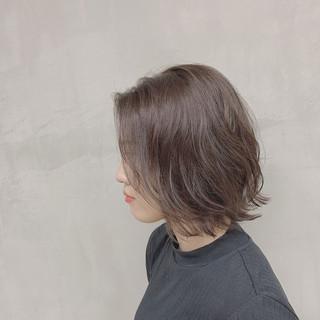 ナチュラル ブルージュ ボブ 透明感カラー ヘアスタイルや髪型の写真・画像