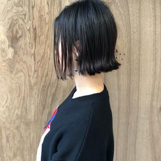 外ハネ ボブ インナーカラー ショートボブ ヘアスタイルや髪型の写真・画像
