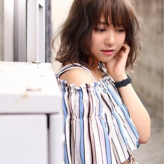 かっこいい 夏 シースルーバング 大人女子 ヘアスタイルや髪型の写真・画像