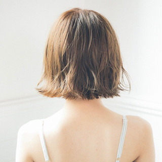 涼しげ ナチュラル 切りっぱなし ヘアアレンジ ヘアスタイルや髪型の写真・画像