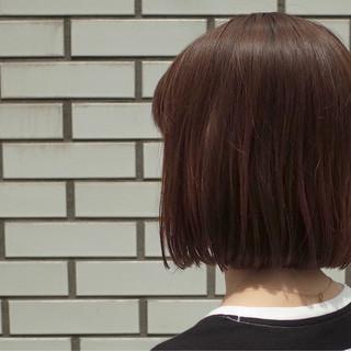 ストリート ボブ ワンレングス 切りっぱなし ヘアスタイルや髪型の写真・画像