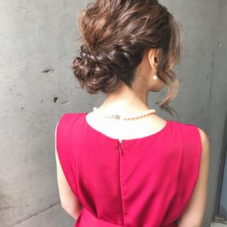 結婚式 アップスタイル フェミニン 大人かわいい ヘアスタイルや髪型の写真・画像 ヘアスタイルや髪型の写真・画像