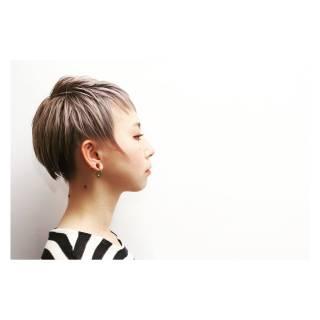 ベリーショート ストレート ストリート ショート ヘアスタイルや髪型の写真・画像