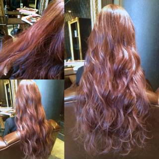 ピンク ロング 外国人風 モード ヘアスタイルや髪型の写真・画像