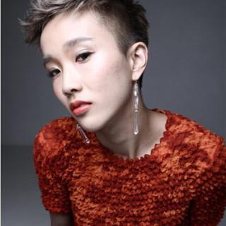 モード ショート ハイトーン ベリーショート ヘアスタイルや髪型の写真・画像