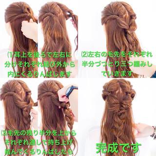 ヘアアレンジ フェミニン アウトドア 簡単ヘアアレンジ ヘアスタイルや髪型の写真・画像 ヘアスタイルや髪型の写真・画像