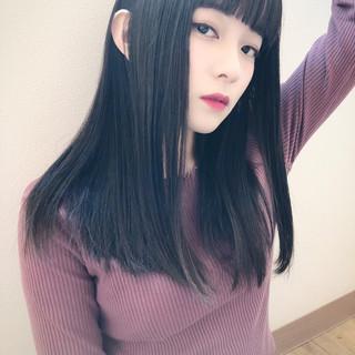 暗髪 グレージュ 黒髪 暗髪女子 ヘアスタイルや髪型の写真・画像