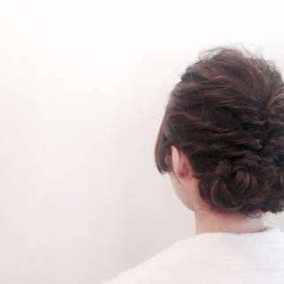 くるりんぱ ナチュラル ショート ヘアアレンジ ヘアスタイルや髪型の写真・画像