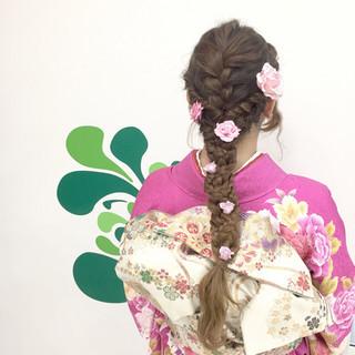 ヘアアレンジ 編み込み 成人式 愛され ヘアスタイルや髪型の写真・画像 ヘアスタイルや髪型の写真・画像