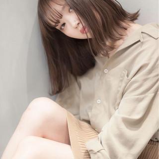 ニュアンス 透明感 ミディアム 秋 ヘアスタイルや髪型の写真・画像