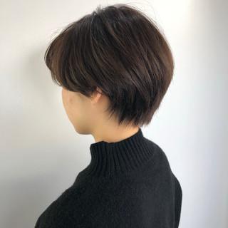 艶カラー イルミナカラー ハンサムショート ショート ヘアスタイルや髪型の写真・画像