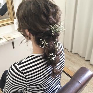ブライダル ナチュラル 結婚式 ヘアアレンジ ヘアスタイルや髪型の写真・画像 ヘアスタイルや髪型の写真・画像