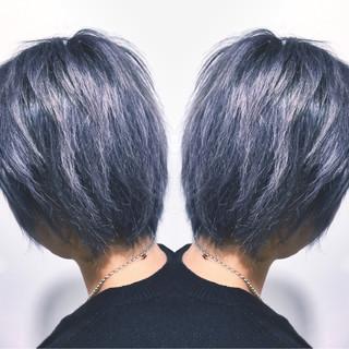 グレージュ ハイライト ブリーチ ストリート ヘアスタイルや髪型の写真・画像