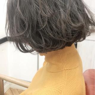 ボブ ナチュラル パーマ 大人かわいい ヘアスタイルや髪型の写真・画像