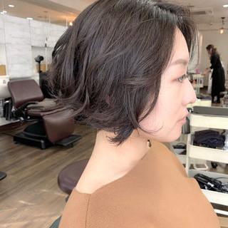 暗髪 ブルージュ ボブ 外国人風 ヘアスタイルや髪型の写真・画像