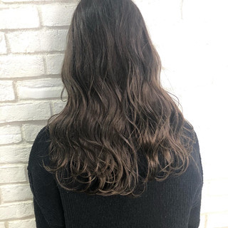 ブラウンベージュ トリートメント コンサバ グレージュ ヘアスタイルや髪型の写真・画像