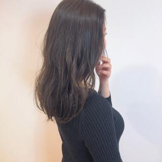 ゆるウェーブ セミロング デート ゆるふわセット ヘアスタイルや髪型の写真・画像