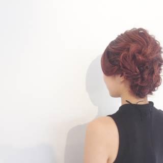 ミディアム パーティ ヘアアレンジ ウェットヘア ヘアスタイルや髪型の写真・画像