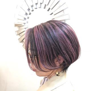 ユニコーンカラー グラデーションカラー インナーカラー ナチュラル ヘアスタイルや髪型の写真・画像