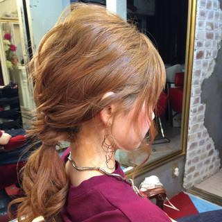 夏 ショート ミディアム ヘアアレンジ ヘアスタイルや髪型の写真・画像