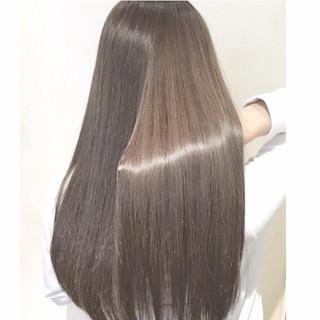 ロング ハイライト グラデーションカラー 暗髪 ヘアスタイルや髪型の写真・画像