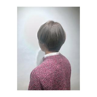 春 ベージュ 透明感 ナチュラル ヘアスタイルや髪型の写真・画像