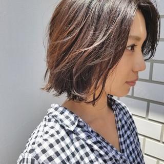外国人風 大人女子 ボブ オフィス ヘアスタイルや髪型の写真・画像