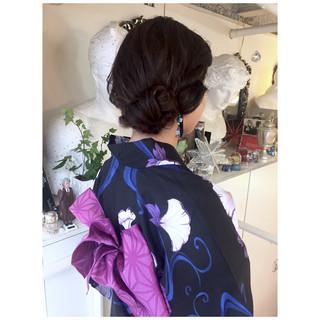 ミディアム ルーズ 和装 ヘアアレンジ ヘアスタイルや髪型の写真・画像