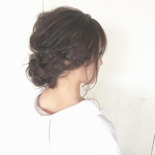 ヘアアレンジ ナチュラル 結婚式 ロング ヘアスタイルや髪型の写真・画像